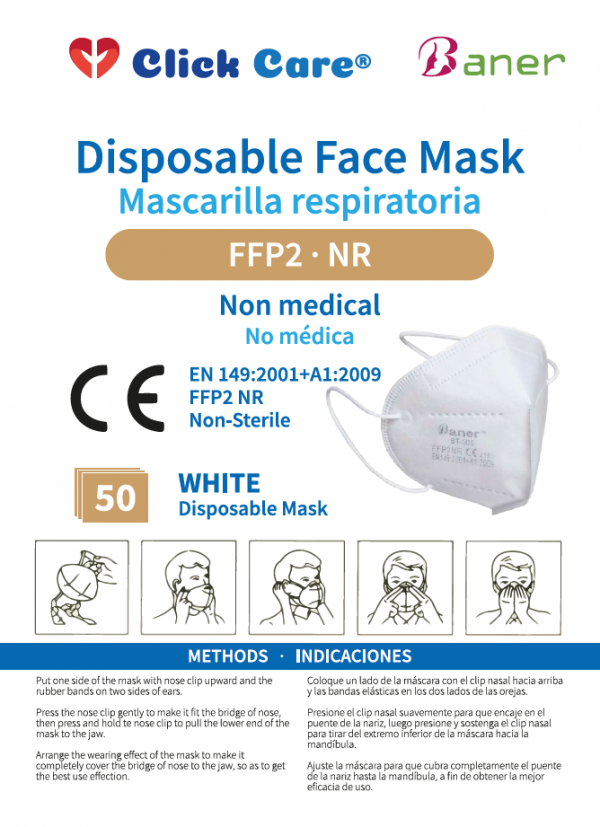 folleto mascarilla respiratoria FFP2